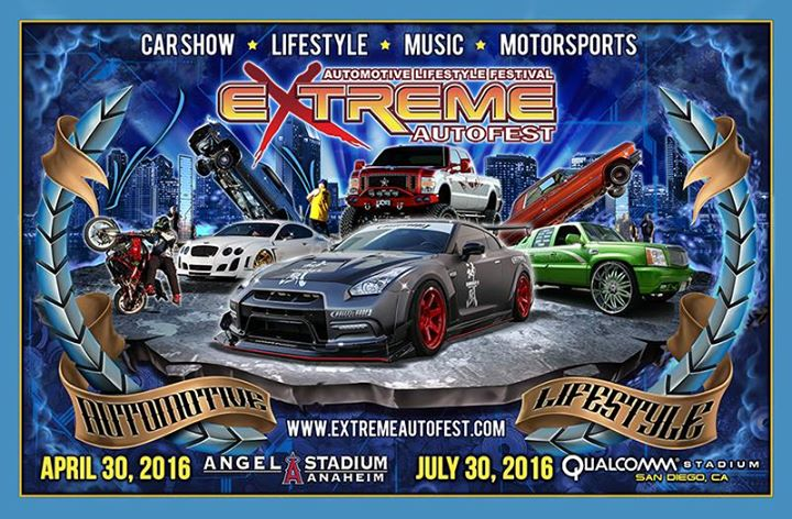 Extreme Autofest Car Show Angel Stadium Anaheim CA - Angel stadium car show